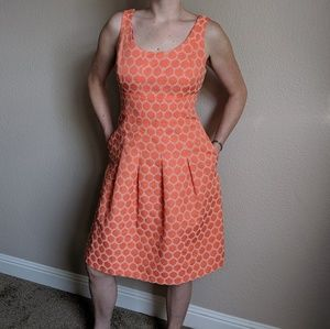 Orange polkadot dress